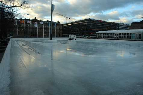 Ice rink by the train station