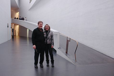 Gary and Teri at Kiasma