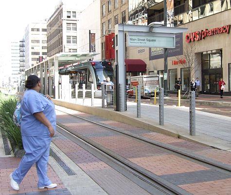 Tram, Houston Main Street Square