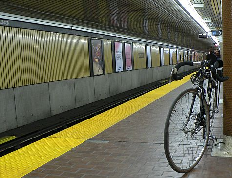 Taking the bike on the subway from Union Station