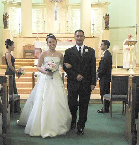 Bride and groom at recessional