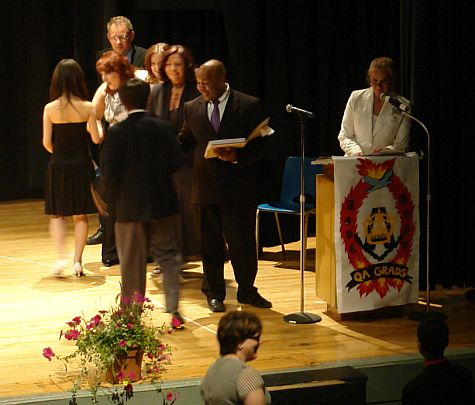 Ryan receiving diploma
