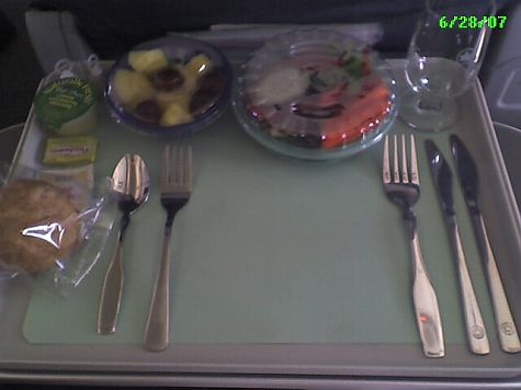 Cutlery on Air Canada business class